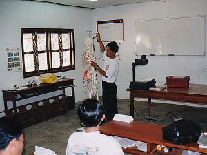 "Theory sessions in a classroom environment are followed by ""hands on"" practical skill sessions"