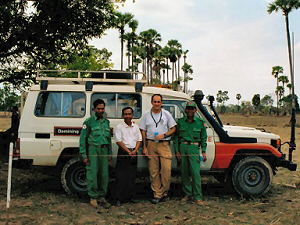 A team of mine clearance trauma medics, trained by MASC Training Services, in Cambodia